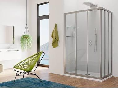 Crystal shower cabin with sliding door BALI