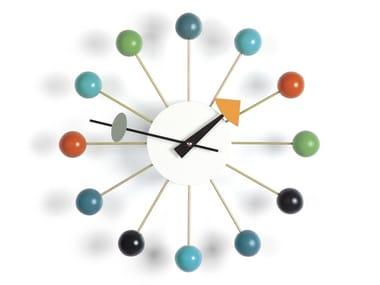 Orologio da parete in legno e metallo BALL CLOCK