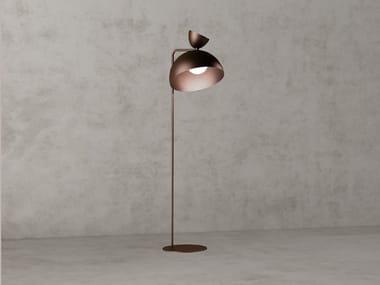 Lampada da terra a LED a luce diretta e indiretta in acciaio BALLOON | Lampada da terra