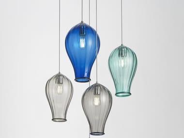 Lampada a sospensione a luce diretta in vetro di Murano BALLOON | Lampada a sospensione
