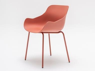 Polypropylene chair with armrests BALTIC BASIC | Polypropylene chair