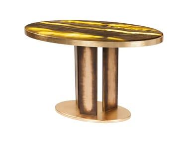 Oval onyx table with light BALU