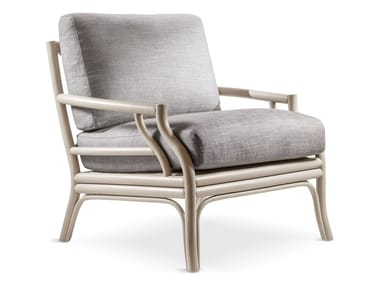 Wooden armchair with armrests BAMBOO | Armchair