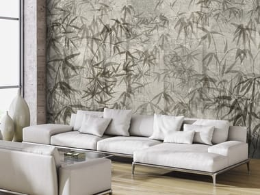Washable wallpaper with floral pattern BAMBÙ