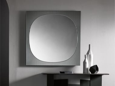 Square wall-mounted mirror BANDS | Square mirror