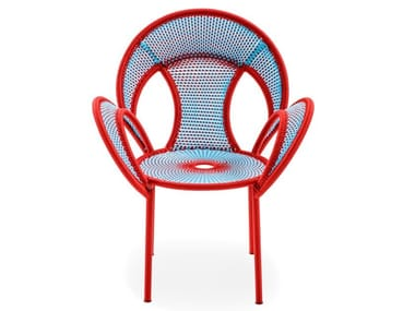 Polyethylene  threads handwoven chair BANJOOLI | Chair
