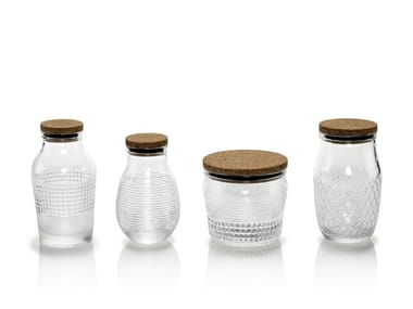 Set of 4 blown glass food-storage box BARATTOLANDO | Food-storage box