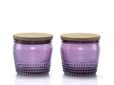 Set of 2 blown glass food-storage box BARATTOLANDO | Food-storage box