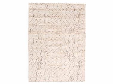 Patterned handmade rectangular rug BARBÈS