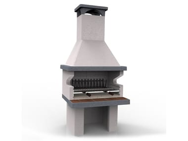 Wood-fired refractory ceramic barbecue BARBECUE 201