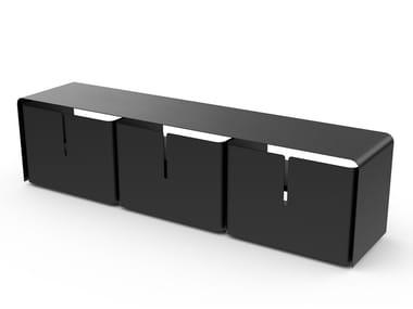 Powder coated steel TV cabinet BARBER | TV cabinet