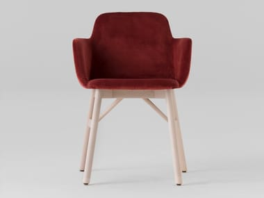 Fabric chair with armrests BARDOT LE | Chair with armrests