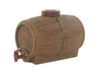 Recipiente polimerico stile botte di legno BARILE CON RUBINETTO
