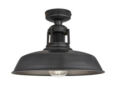 Lampada da soffitto in ferro BARN SLOTTED