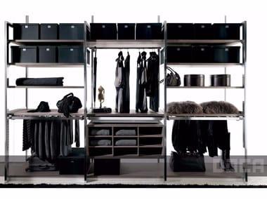 Sectional walk-in wardrobe BARNA TABAC