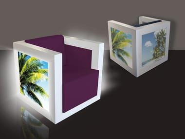 PVC armchair with light with armrests BARRISOL® | Armchair