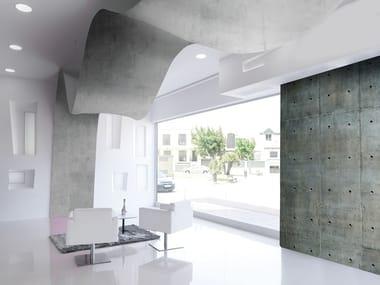Soffitto teso / Parete tesa in PVC BARRISOL® Effetto cemento