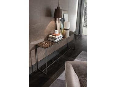 Rectangular marble console table BARRY | Rectangular console table