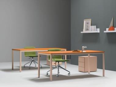 Rectangular workstation desk BARTOLO | Rectangular office desk