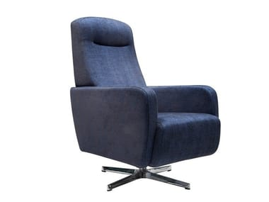 Swivel armchair with 4-spoke base BAS | Armchair with 4-spoke base