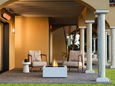 Outdoor freestanding bioethanol fireplace BASE 30
