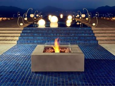 Outdoor freestanding bioethanol fireplace BASE 40