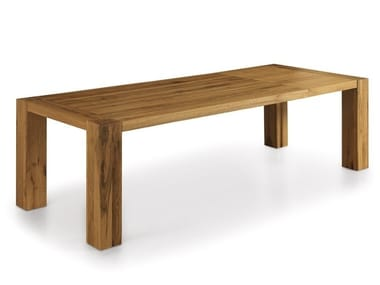 Extending solid wood table BASE EXTENDABLE