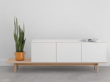 Modular lacquered sideboard BASE