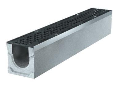 Concrete Drainage channel and part BASIC+ 100 H160 | Drainage channel and part