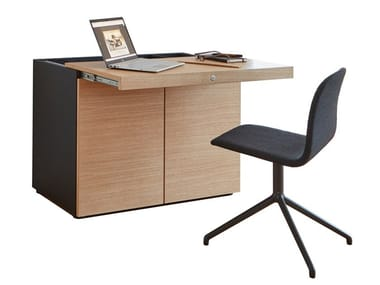 Wooden secretary desk / highboard BASIC CAP HOME