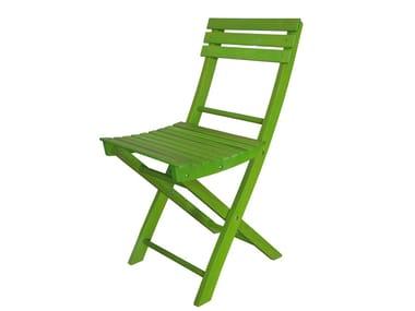 Folding beech garden chair BASIC