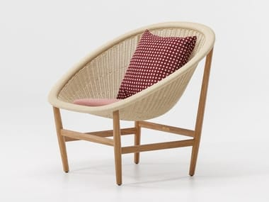 Wicker armchair BASKET | Armchair