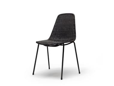 Stackable rattan chair BASKET