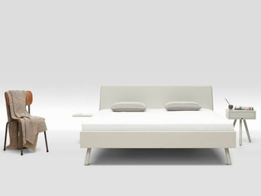 Lacquered MDF double bed BASKET LACQUERED