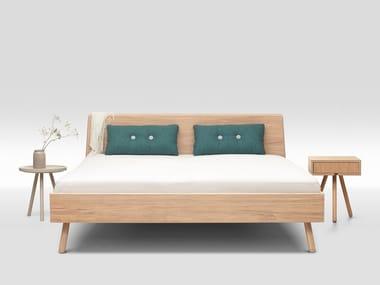 Multi-layer wood double bed BASKET OAK