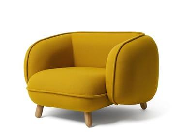 Fabric armchair with armrests BASSET | Armchair