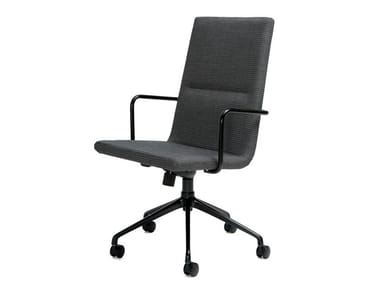 Height-adjustable task chair with 5-Spoke base BASSO | Chair with 5-spoke base