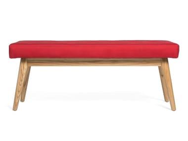 Tufted upholstered fabric bench BASTILLE