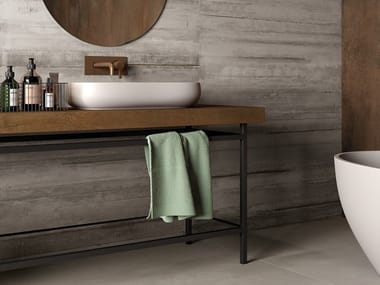 Porcelain stoneware washbasin countertop BATH DESIGN | Washbasin countertop