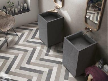 Freestanding square porcelain stoneware washbasin BATH DESIGN | Freestanding washbasin