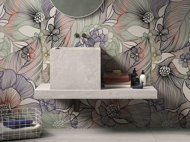 Vasque à poser carré en grès cérame de style contemporain BATH DESIGN | Lavabo carré