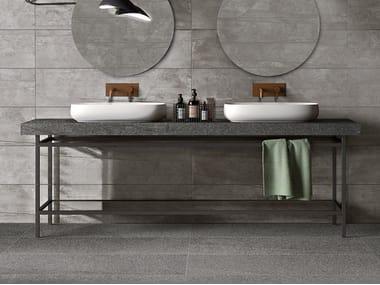Piano lavabo in gres porcellanato BATH DESIGN | Piano lavabo