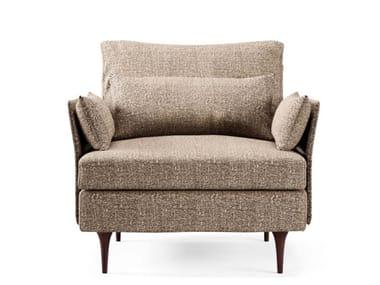 Modular fabric lobby chair BAU | Fabric armchair