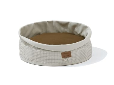 Leather dogbasket BAU'HOUSE