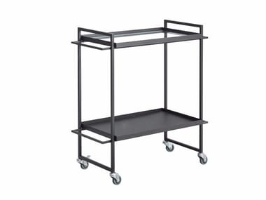 Glass and steel drinks trolley BAUHAUS | Food trolley