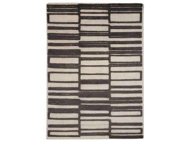 Patterned handmade custom wool rug BAUHAUS