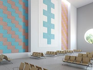 Panneau acoustique décoratif en laine de bois BAUX ACOUSTIC PANEL CURVE