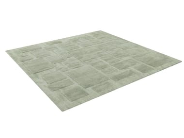 Square fabric rug BABYLONE