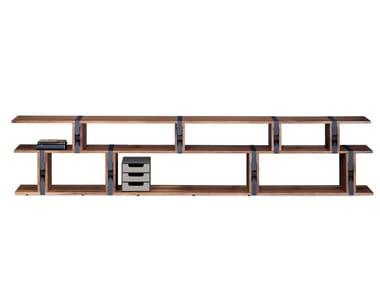 Estante aberta secional de madeira BB21 STRAP