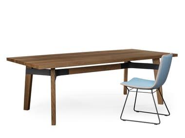 Mesa de jantar de madeira BB31 CONNECT | Mesa retangular